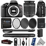 Canon EOS Rebel T6i Digital SLR Camera + EF-S 18-55mm f 3.5-5.6 IS STM Zoom Lens w Essential Photo and Travel Bundle