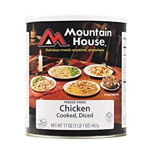 Mountain House #10 Can Diced Chicken, Cooked (14 3/4 cup servings)