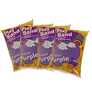 4 x Bradstone Children's Sand Pit Dry Craft & Play Sand - Purple