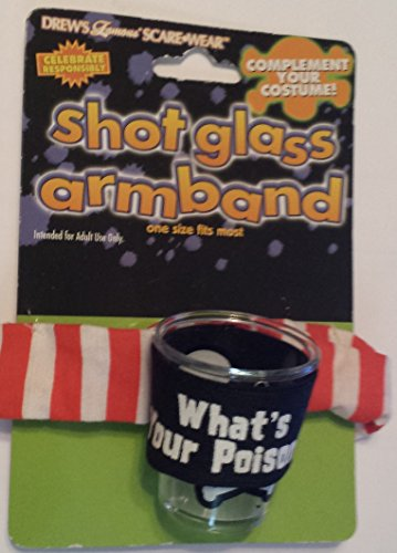 What's Your Poison? Shot Glass with Armband Costume Accessory - 1