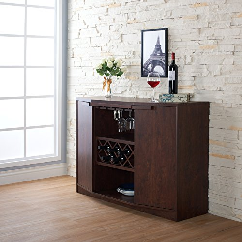 Iohomes Annadel Wine Cabinet Buffet Vintage Walnut