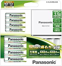 Panasonic 充電式EVOLTA ファミリーセット単3形充電池 4本・単4形充電池 4本 K-KJ53MLE44