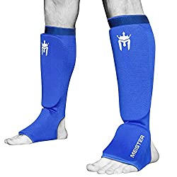 Meister MMA Elastic Cloth Shin & Instep Padded Guards (Pair) from Meister MMA