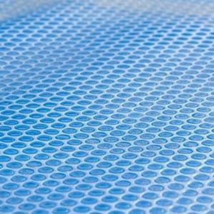 Bâche solaire à bulles pour piscine - 6 x 4 m - 400 microns - découpable - jusqu'à 8° C supplémentaire