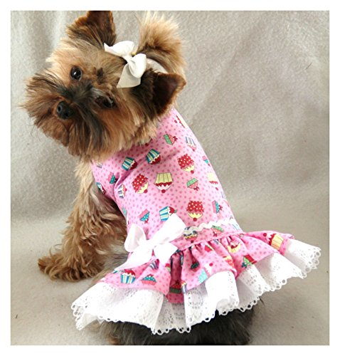 XXXS New Cupcake Lace Party Dog dress clothes teacup puppy PC Dog (Teacup Clothes compare prices)