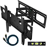 51Pqrj%2BxyvL. SL160  Cheetah Mounts Plasma LCD Flat Screen TV Articulating Full Motion Dual Arm Wall Mount Bracket For 32 65 Displays Up To 165LBS Black With 10 Foot High Speed HDMI Cable With Ethernet Fits Up To 24 Studs