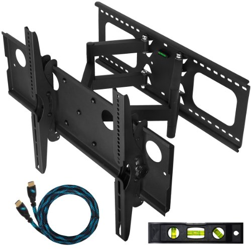 Christmas Cheetah Mounts Plasma LCD Flat Screen TV Articulating Full Motion Dual Arm Wall Mount Bracket For 32-65
