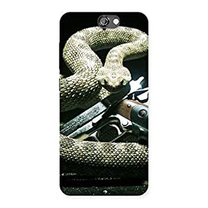 Delighted Gun And Rattle Snake Back Case Cover for HTC One A9