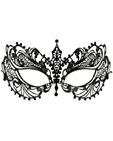 Luxury Mask Women's Laser Cut Metal Venetian Pretty Masquerade Mask