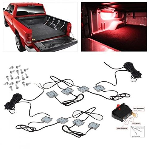 Partsam Ultra Bright Red 48 LED Truck Pickup Cargo Bed Tail Light Universal 8Pods 12V (Chevy Truck 1500 compare prices)