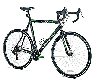 GMC Denali Road Bike, Black/Green, 22.5-Inch/Medium