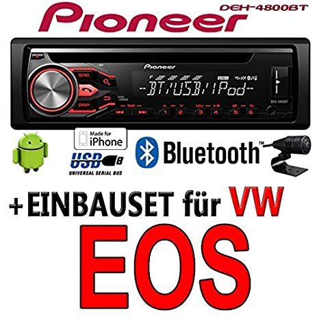Volkswagen eos-pioneer dEH - 4800BT-cD/mP3/uSB avec kit de montage