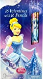 Disney Princess Cinderella 16 Valentines with 16 Pencils by Paper Magic Group
