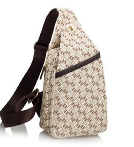 Classic Fashion Women Korea Simple Style Pu Leather Clutch Handbag Bag/Shoulder Strap746 (Apricot)
