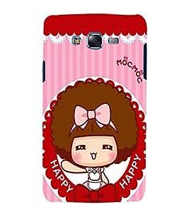printtech Happy Girl Back Case Cover for Samsung Galaxy J1::Samsung Galaxy J1 J100F