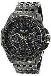 Armitron Men's 20/4955BKTI Multi-Function Black Ion-Plated Bracelet Watch