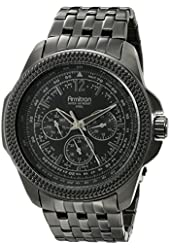 Armitron Men's 20/4955BKTI Multi-Function Black Ion-Plated Bracelet Watch