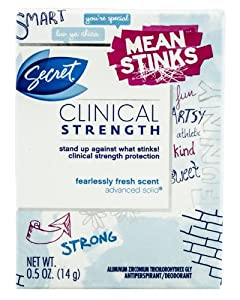Secret Clinical Strength Fearlessly Fresh Scent Advanced Solid Antiperspirant & Deodorant 0.5 Oz (Pack of 2)