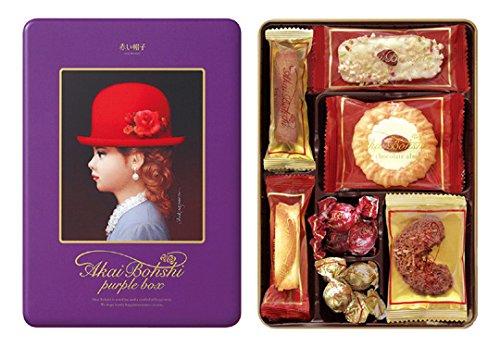 赤い帽子 パープルボックス 缶 100g