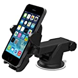 iOttie Easy One Touch 2 Car Mount Holder Cradle for iPhone 5s/5c/4s, Samsung Galaxy S5/S4/S3, Note 3/2, Google Nexus 5/4, LG G3 - Retail Packaging - Black