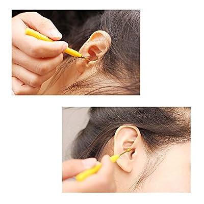 Anself Spiral Earpick New Ear Scoop Boutique Screw Type Safety Earpick Golden Metal Colors Randomly(1pc )