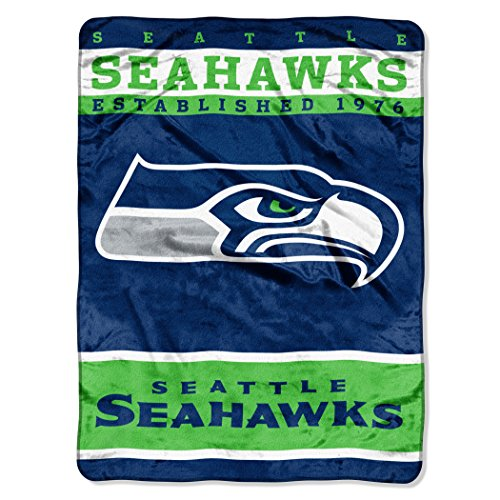 NFL Seattle Seahawks Plush Raschel Blanket