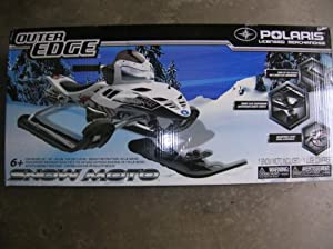 Polaris Outer Edge Snow Moto Racing Sled - White