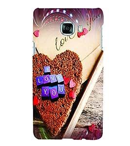 PrintVisa Romantic Love Hearts Cake 3D Hard Polycarbonate Designer Back Case Cover for Samsung C7