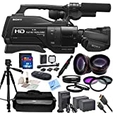 "Sony HXR-MC2500 Shoulder Mount AVCHD Camcorder With CS Premium Kit: Includes 72"" Professional Tripod, Weather Proof Case, HD Wide Angle Lens, Telephoto HD Lens, 3 Piece Filter Kit, 4 Piece Macro Close-Up Set, Transcend 16GB SDHC Memory Card, SD Card Reader, Memory Card Wallet, LED Video Light With 2 Lithium Batteries & Bracket, 2 Sony NPF970 Replacement Batteries, Rapid Travel Charger With Car Adapter & US+EU Plugs, HDMI Cable, Brush Blower, Cleaning Kit, Lens Pen & CS Microfiber Cleaning Cloth"