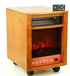 750 Watt Infrared Cabinet Space Heater Fireplace with Dual Heating System