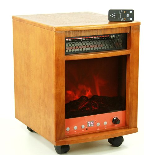 750 Watt Infrared Cabinet Space Heater Fireplace with Dual Heating System image B0065A9IA2.jpg