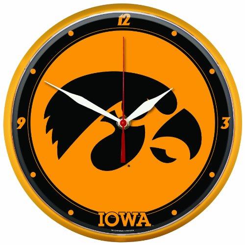 NCAA Iowa Hawkeyes Round Clock