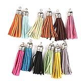 6cm Velvet Tassel Pendant Charms for Bag Craft Key Chain Decor Pack of 12 Colorful