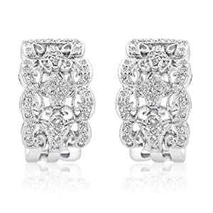 18K WHITE GOLD 0.60CTW DIAMOND EARRING