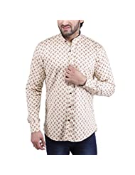 Tag & Trend Men's Slim Fit Casual And Party Wear MUSTARD YELLOW Shirt By TRADIX INNOVATIONS