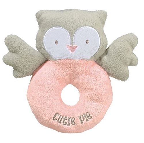 "Grasslands Road 6"" Owl Plush Rattle ~ Pink, "" Cutie Pie"" - 1"