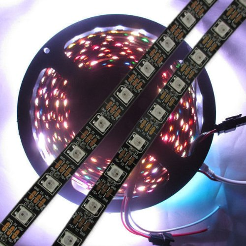 Hkbayi 4M Built-In Ws2812B Black Board Led Strip,240 Led 240 Pixel Matrix Led Strip Not Waterproof