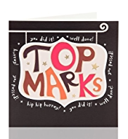 Top Marks Greetings Card