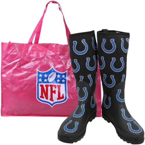 Cuce Shoes Indianapolis Colts Women's Enthusiast Rain Boot 7 at Amazon.com