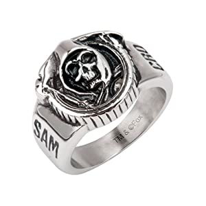 Sons of Anarchy Grim Reaper Skull Stainless Steel Ring - Size 9