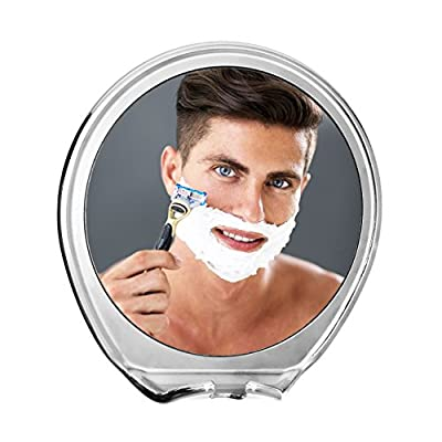 JiBen Fogless Shower Mirror with Power Locking Suction Cup, Built-in Razor Hook and 360 Degree Rotating Adjustable Arm   Best Personal Fog Free Shaving Mirror!
