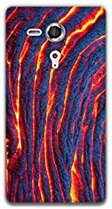 The Racoon Grip Lava hard plastic printed back case / cover for Sony Xperia SP