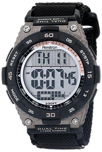 armitron-sport-homme-40-8330blk-marron-avec-sangle-en-nylon-chronographe-numerique-noir-montre