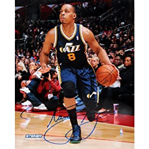 Randy Foye Utah Jazz Drives Up Court Signed 8x10 Photo by Steiner Sports