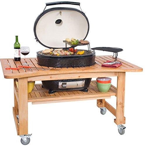 Kompakt-Tisch aus Zypressen-Holz für den Primo Oval XL günstig bestellen