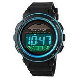 SKMEI キッズ男の子女の子素敵なデジタル Led バックライト時計週アラーム クロノグラフ手首腕時計ブルー