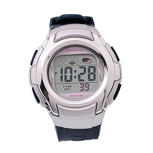 8Years- 1 Stueck Kinder LED Armbanduhr Digitaluhr Stoppuhr Wasserdicht Dunkelblau