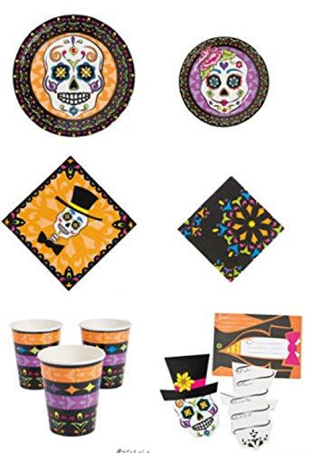 [Day of the Dead Party Supplies Party Pack (128 Pieces) (Party for 16)Party Supplies/Tableware] (Day Of The Dead Party Supplies)