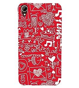 EPICCASE excited hobbies Mobile Back Case Cover For HTC Desire 828 (Designer Case)