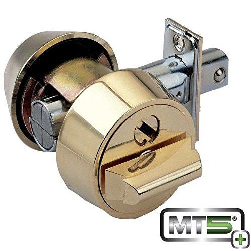 Mul-T-Lock Mt5+ Hercular Double Cylinder Captive Key Deadbolt - Satin Chrome